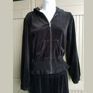 BISOU BISOU Cute Black TRACK SUIT sz PM